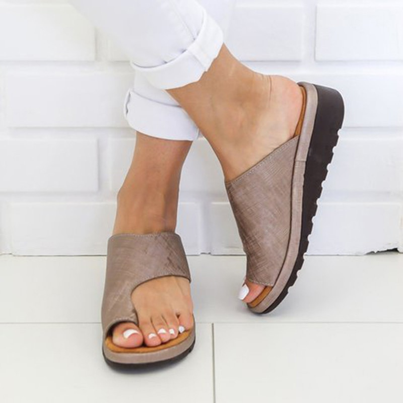 Women's Bunion Correcting Leather Sandals