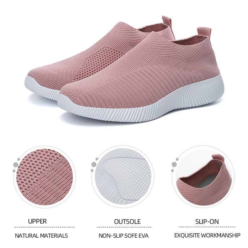 High Quality Women Sneakers Slip On Flats Shoes - Lia mart